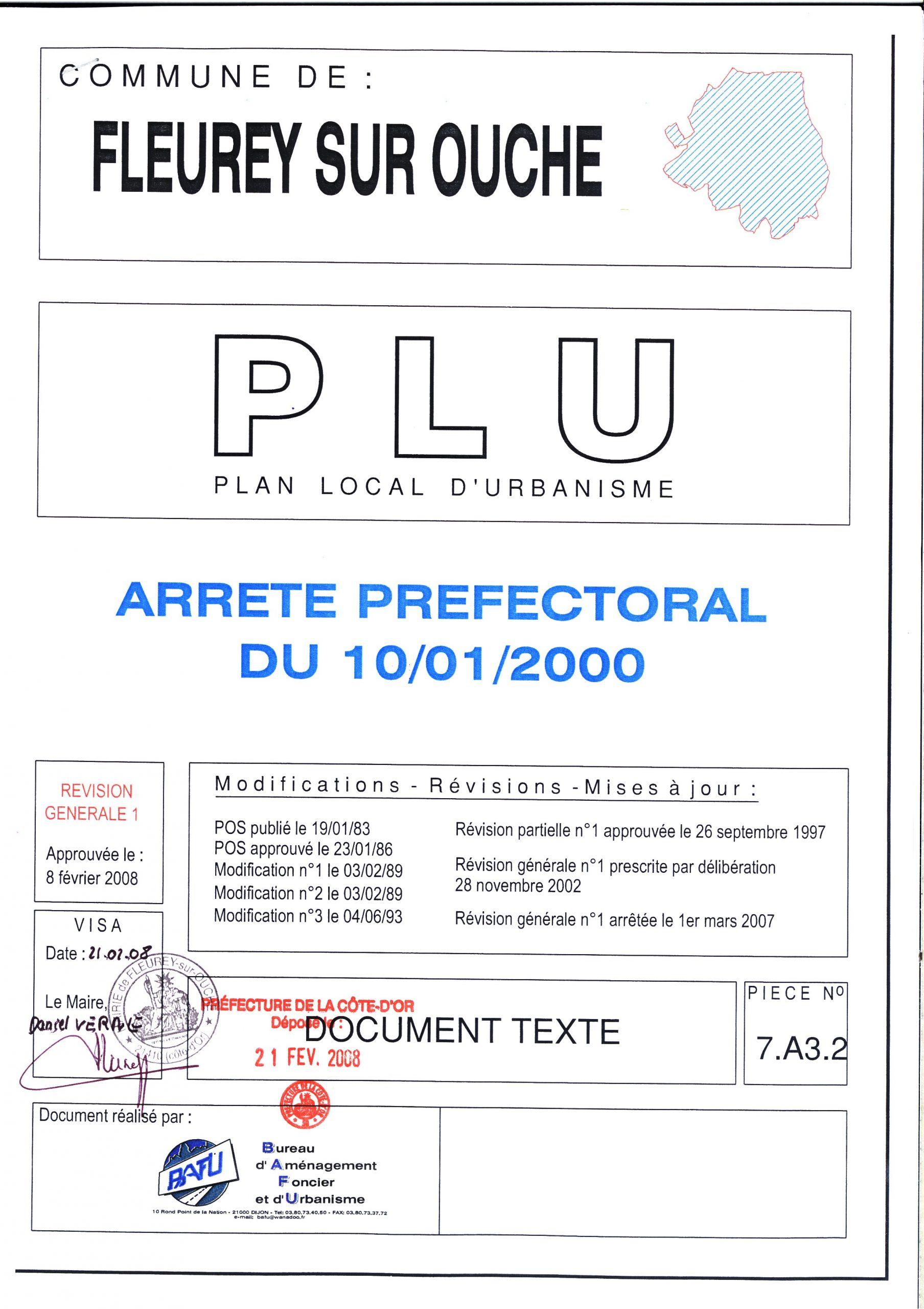 pdg arrete prefectoral 10 01 2000